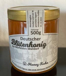 FLÜSSIGER HONIG Dalles 500G GLAS